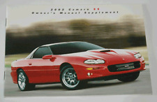 OEM GM SLP 2002 Camaro SS Owners Manual Supplement NEW 21 pages