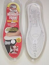2 PAIRS MEMORY FOAM INNER SOLES/INSOLES FOR SHOES/BOOTS/SLIPPERS+ OTHER FOOTWEAR