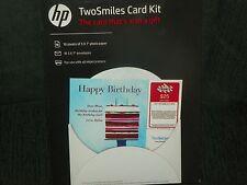 HP TwoSmiles Card Kit Photo Paper Greeting Card Set  4 boxes
