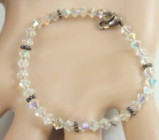 Child Girl Sterling Silver Aurora Borealis Crystal Bracelet