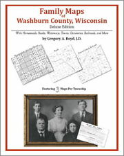 Family Maps Washburn County Wisconsin Genealogy WI Plat