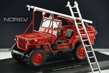 NOREV 1:18 JEEP Willis Fire Truck Jeep Off-road Vehicle Diecast Model Red Color