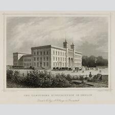 Der Hamburger Eisenbahnhof in Berlin. Stahlstich 1850