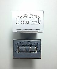 Rubber Stamps Date PAID For Office No Ink Brand ART