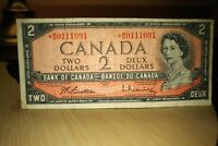 1954 Replacement $2 Dollar Bank of Canada Banknote *BB0111091