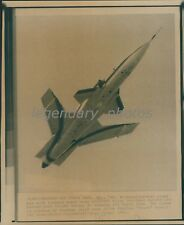 1985 X-29 Experimental Plane Test Flight Original Wirephoto