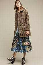 NWT Anthropologie by Colorblock Paris Dawson Jacquard Motif Coat Large NEW