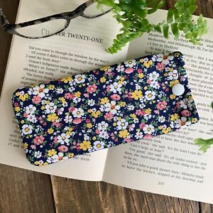 Floral fabric glasses case Flower spectacle pouch Handmade Gardeners gift idea