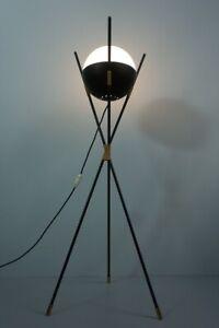 Vintage 50s Esperia Tripod Floor Lamp Italy Stehleuchte Mid Century Design 1Z