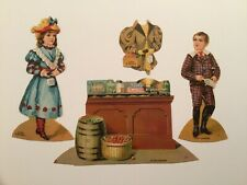 Vtg. Advertising Trade Card Paper Doll Set Lion Coff