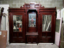 ~ Antique Carved Walnut Closet Front Built In Armoire ~ 112 X 101 ~ Salvage ~