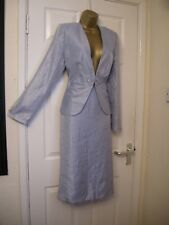 16 GINA BACCONI ICE BLUE SHIMMER SUIT SKIRT AND JACKET NEW WEDDING PARTY SUMMER
