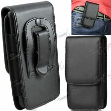 PU Leather Flip Magnetic Belt Clip Hip Case Cover Holster For Mobile Phone Apple