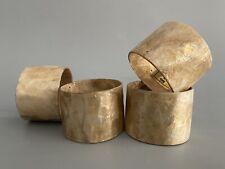 Vintage Mid Century Capiz Shell Napkin Rings