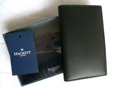 Genuine HACKETT GB Black Leather CARD HOLDER Wallet Cardholder In Box Tags