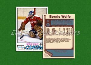 Bernie Wolfe - Washington Capitals - Custom Hockey Card  - 1976-77