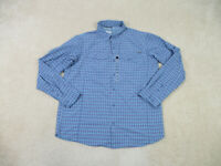 NEW Columbia Button Up Shirt Adult Extra Large Blue Long Sleeve Casual Mens B70