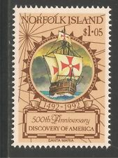 Norfolk Island #518 (A120) VF MNH - 1992 $1.05 Santa Maria / Ship
