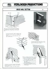 Verlinden Productions 1:35 Brick Wall Section Printed Carton Diorama Acc #32