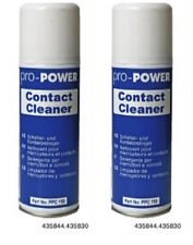 2 x pro power switch contact cleaner studio audio mixer bande dj spray