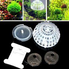 Moss Floating Ball Aquarium Fish Tank Decor Nature Live Plant Cultivation Holder
