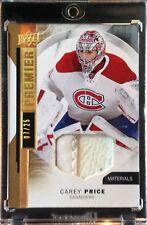 2015-16 Upper Deck Premier Carey Price Prime Materials Blocker Canadiens SP /25