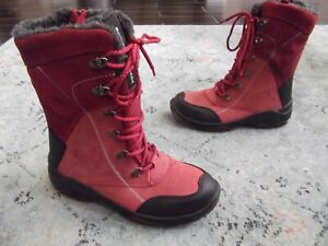 Santana Canada Topspeed Mid Waterproof Boot Leather RED Sz. 7 / 37
