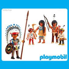 * Historia De Playmobil * Indio Nativo Americano Jefe & Familia * Nuevo en Paquete *