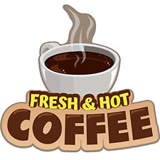 Fresh Hot Coffee 16 Concession Decal Sign Cart Trailer Stand Sticker Equipment