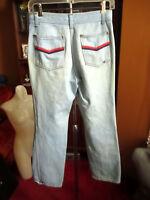28x30 fit True Vtg 70s Bootcut Relic Trash Disco Pocket Faded Denim Jeans
