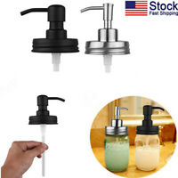 US Premium Stainless Steel Mason Jar Soap/Lotion Dispenser Lids Metal Pumps