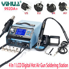 YIHUA 992DA+ 110V LCD Digital Soldering Station Repair Hot Air Gun Solder Irons