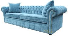 Chesterfield Design Luxus Polster Sofa Couch Sitz Garnitur Leder Textil Neu #220