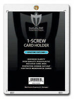 25 Max Pro Thick 120pt Pro 1 Screw Plastic Card Holders Ultra Clear - New