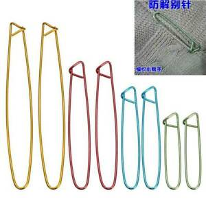 1-Set 4-Sizes Aluminum Stitch Holders Pins Knit Knitting Needles Crochet Hooks !