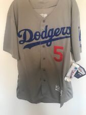 Corey Seager Los Angeles Dodgers Majestic Authentic Jersey Mens Large Gray