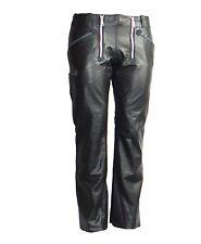 Zunfthose Lederhose Zimmermannshose Nappa Leder schwarz Größe 33 inch