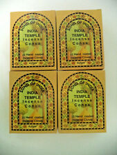 Song of India Cone: Bulk 100 Cones Lot (4 x 25 Boxes) India Temple Incense