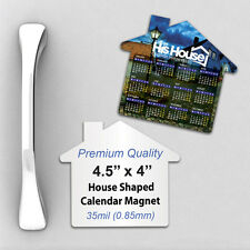 1000 Custom 35mil Thick House Shaped Calendar Fridge Magnet with Your Design/Log