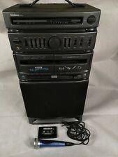 Goodmans Pro-6 Karaoke Machine HiFi with Microphone Cassette Tape Player - Radio