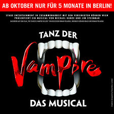VIP-Musical-Paket: Ticket+Getränke: TANZ DER VAMPIRE am 27.10.2018 in Berlin