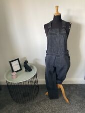 """Beautiful Topshop Black Denim Dungarees Size 10 (28""""W) Immaculate - Amazing On!"""