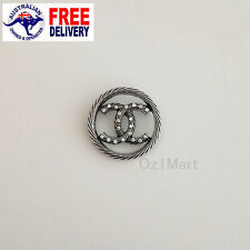 NEW Fashion BROOCH Silver Round Cystals Casual Office Pin Gift