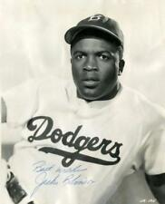 REPRINT - JACKIE ROBINSON Signed Dodgers Glossy 8 x 10 Photo RP