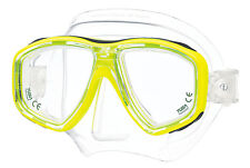 Tusa Freedom Ceos Mask Scuba Diving, FreeDiving, Snorkeling Yellow M-212-FY