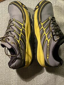 Merrell Mens Unifly All Out Rush Wild Dove/Yellow Trail Running Shoes Size 11.5
