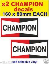x2 Champion decals car van bus truck bike sticker self adhesive motorbike vw bus