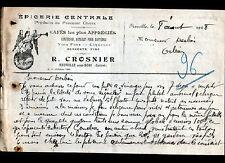 """NEUVILLE-aux-BOIS (45) EPICERIE / A LA RENOMMEE """"R. CROSNIER"""" en 1928"""