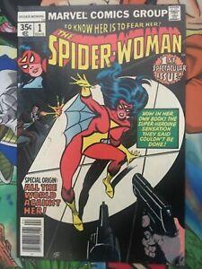 Spiderwoman #1 Bronze age KEY 1st issue!  MCU NM