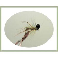 Set di 3 FLY Fishing Flies spinato OLIVE Hopper Reggicalze Taglia 16